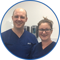 Dentist Paul and dental nurse Jess at Meneage, Cornwall
