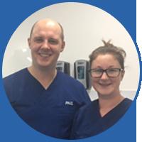 Dentist Paul and dental nurse Jess at Meneage, Cornwall