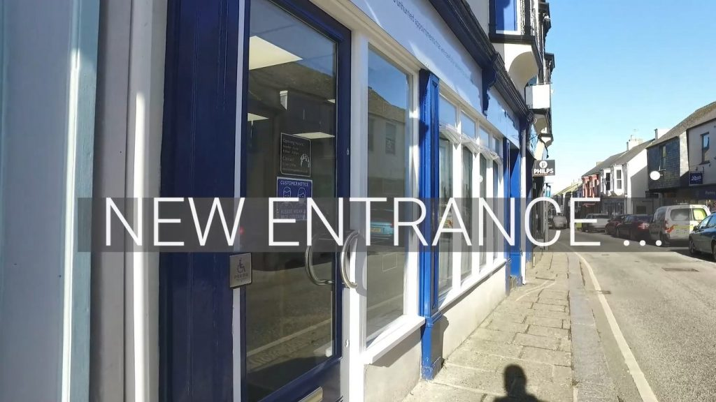 New entrance for dentist patients at Meneage Dental in Helston